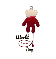 concept on the world donor day june 14 package vector image