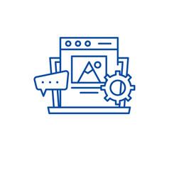 Content management line icon concept content vector