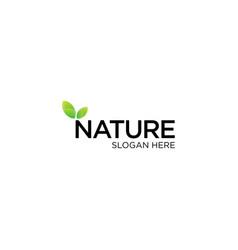 Creative nature logo design vector