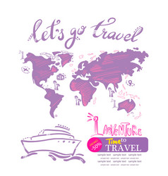 Cruise travelling travel vacation concept vector