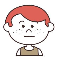 Cute little boy character vector