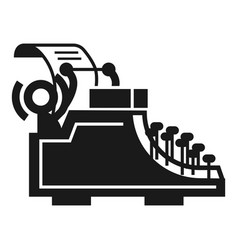 desk typewriter icon simple style vector image