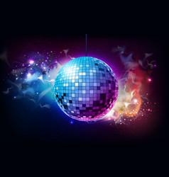 Disco ball ball on open space background vector
