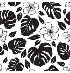 Floral tropical pattern vector
