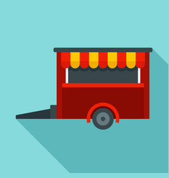 Food trailer icon flat style vector