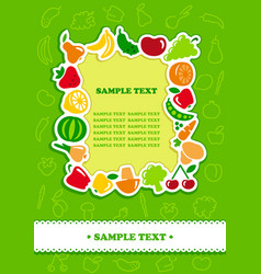 Framework from icons vegetables and fruit vector