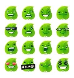 Funny Leaf Emojis vector