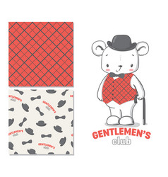 Gentlemen club fashion for kids vector