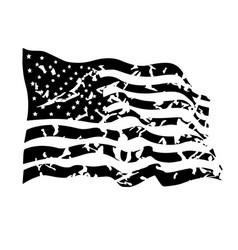 Grunge usa flag distressed american flag vector