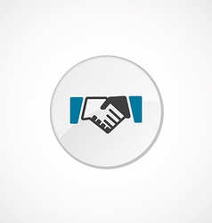 Handshake icon 2 colored vector