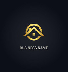 Home realty round company logo vector