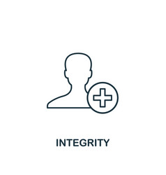Integrity icon thin line design symbol from vector