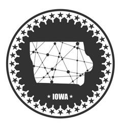 Iowa state map vector