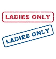 Ladies only rubber stamps vector