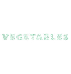 lettering vegetables pattern logo groceries vector image