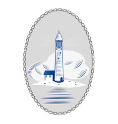 lighthouse sea ocean light water coast beacon vector image