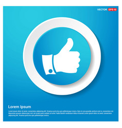 like icon abstract blue web sticker button vector image