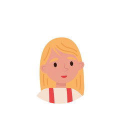 lovely blonde girl avatar of cute little kid vector image