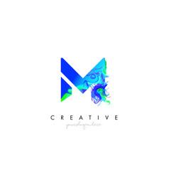 M letter icon design logo with creative artistic vector