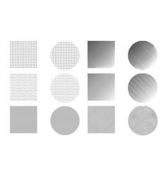 modern trendy hipster pop art halftone geometric vector image