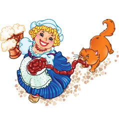 Oktoberfest lady vector image