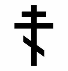 Orthodox cross dark silhouette vector