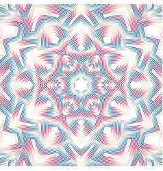 Outline abstract flower mandala vector