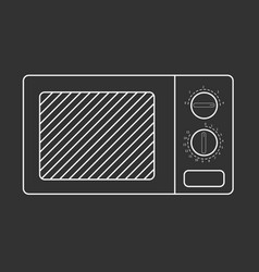 Outlined microwave oven vector