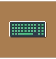 paper sticker on background of computer keyboard vector image