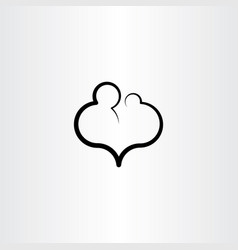 Parent child care love icon vector