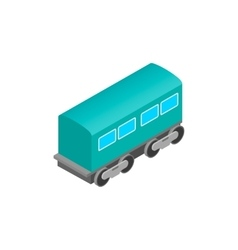 Passenger railway waggon isometric icon vector image