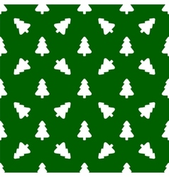 Pattern for wrapping paper White Christmas tree vector