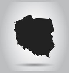 Poland map black icon on white background vector
