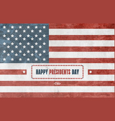 presidents day background vector image