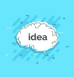 quick tips badge with speech bubble idea brain vector image