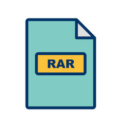 Rar icon vector