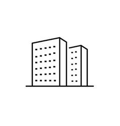 Real estate cityscape icon vector
