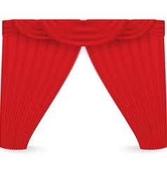 Red curtains on a white background vector