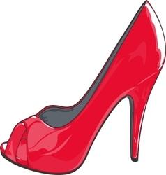 Red high heel shoe vector