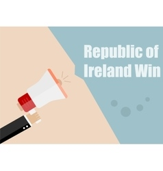 Republic of Ireland win Flat design vector