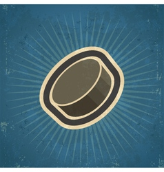 Retro Hockey Puck vector image