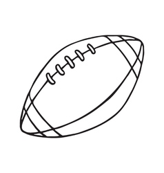 Rugby and american football ball outlined vector