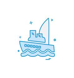 sea icon design vector image