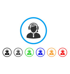 Sick dispatcher rounded icon vector