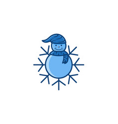 snowball and snow logo icon designs inspiration vector image