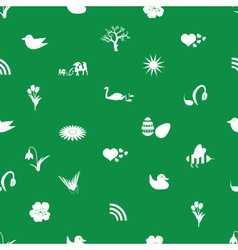 spring icons pattern eps10 vector image