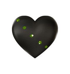 Stone wounded heart and grass vector
