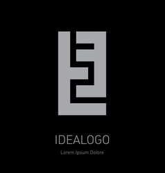 T and 3 initial logo t3 - design element or icon vector