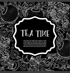 Tea time design banner templates set vector