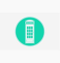 telephone box icon sign symbol vector image